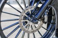 Harley-Davidson Softail Deluxe Chicano Style rad und Bremsscheibe