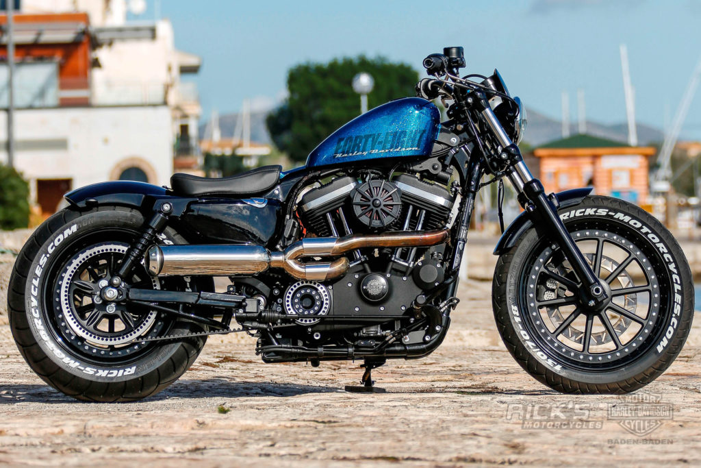 Fat Ass Sportster 48 extra wide with 240 tire | Rick`s