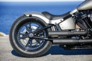 Harley-Davidson Custom Fat Boy, Modell 2018 Milwaukee-Eight Heckumbau
