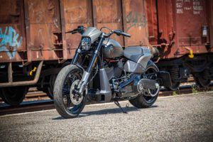 Harley Davidson FXDR grey Custom Ricks 049