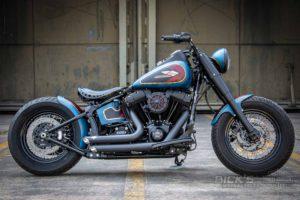 Harley Davidson Twin Cam Softail Slim Bobber kurz 014 3