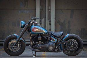 Harley Davidson Twin Cam Softail Slim Bobber kurz 042 1