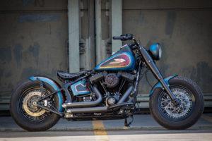 Harley Davidson Twin Cam Softail Slim Bobber lang 008