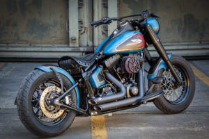 Harley Davidson Twin Cam Softail Slim Bobber lang 015