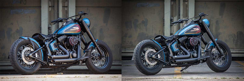 Harley Davidson Twin Cam Softail Slim Bobber lang 016 1