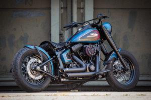 Harley Davidson Twin Cam Softail Slim Bobber lang 016