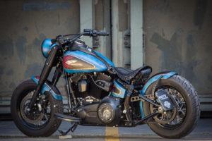 Harley Davidson Twin Cam Softail Slim Bobber lang 026