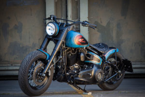 Harley Davidson Twin Cam Softail Slim Bobber lang 039