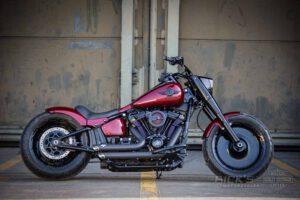 Harley Davidson Fat Boy rot Custom Ricks 018